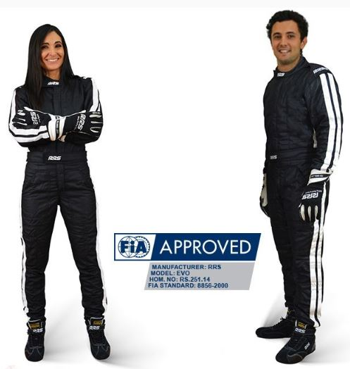 Diamond Black & White FIA Race suit